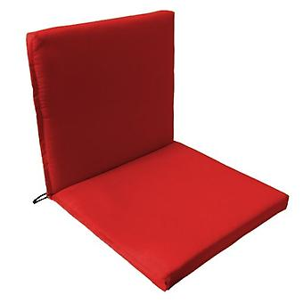 Gardenista® Red Water Resistant Two Part Chair Seat Pad, Pack of 6