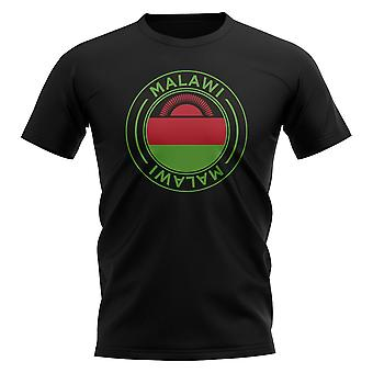 Malawi Football Badge T-Shirt (Schwarz)
