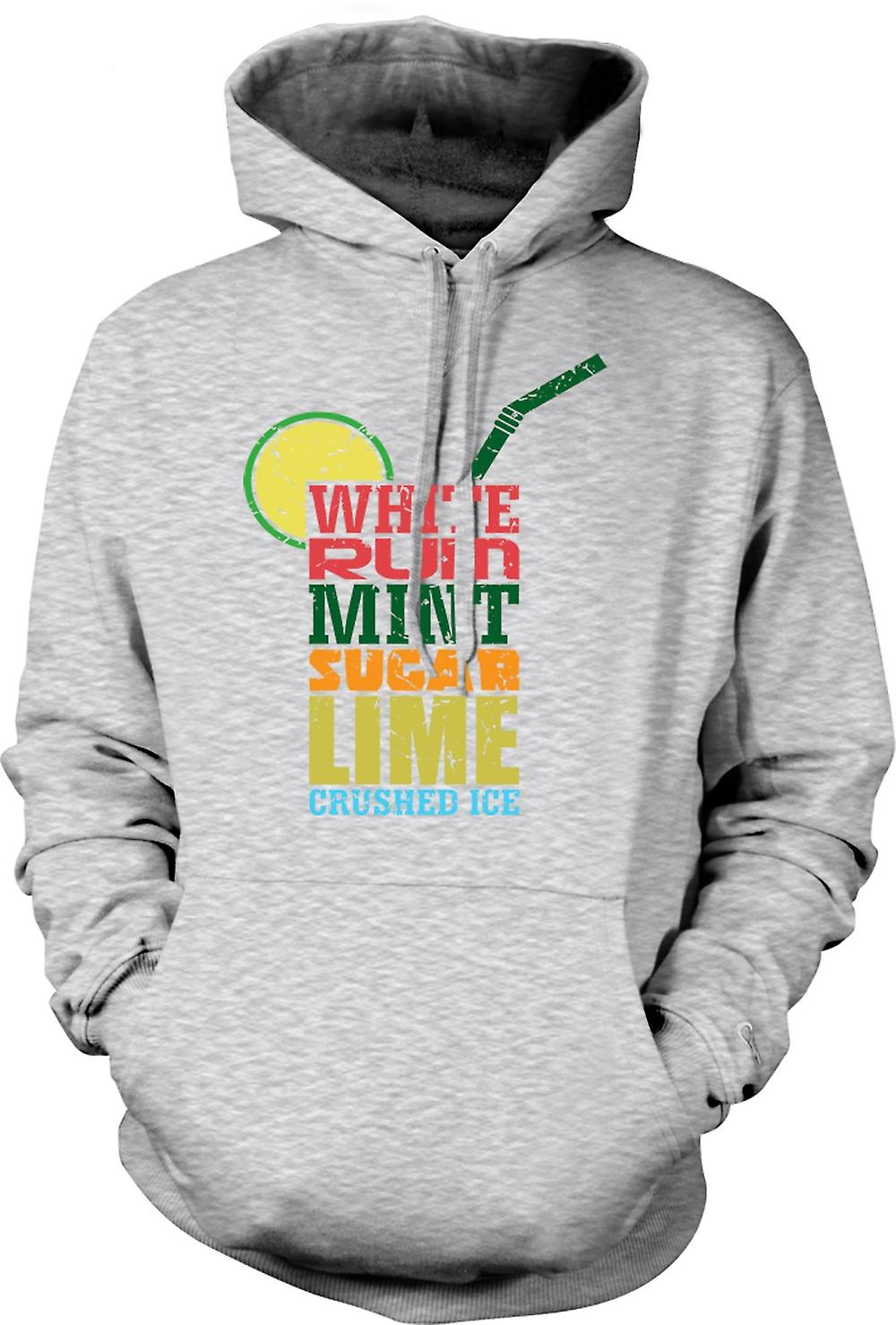 Mens Hoodie - Mojito Cocktail - Cool