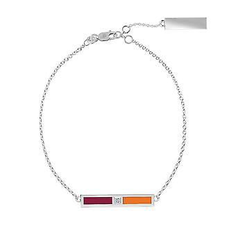 Virginia Tech-Diamond bar armbånd i Maroon og Dark orange