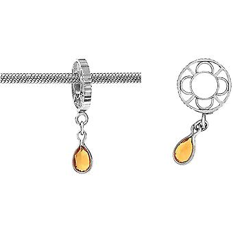 Storywheels Silver With Citrine Dangle CharmS012C