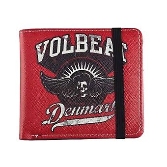 Volbeat Wallet Made In Denmark Skull Band Logo new Official Red Bifold