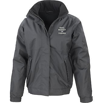 Royal regiment of Fusiliers tekst-lisensiert britiske hæren brodert vanntett jakke med fleece Inner