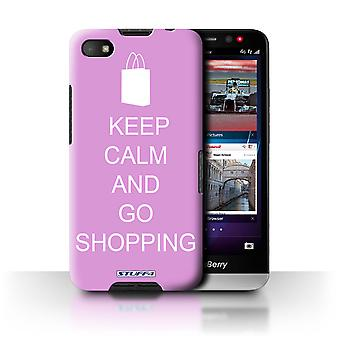 STUFF4 Case/Cover voor Blackberry A10/Go winkelen/roze/Keep Calm