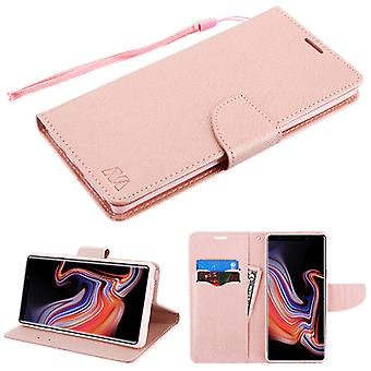 MYBAT Rose Gold Pattern/Rose Gold Liner MyJacket wallet (with card slot)(84G) for Galaxy Note 9