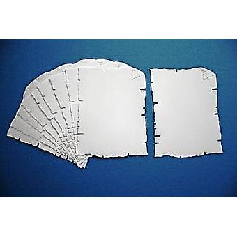 10 White Card Parchment Shapes for Kids Pirate Treasure Maps