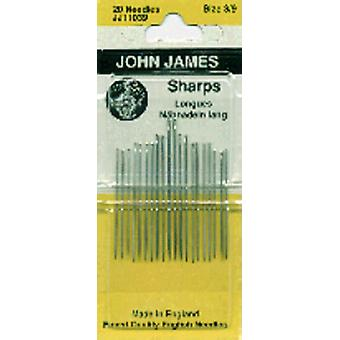Sharps Hand Needles Size 3 9 20 Pkg Jj110 139