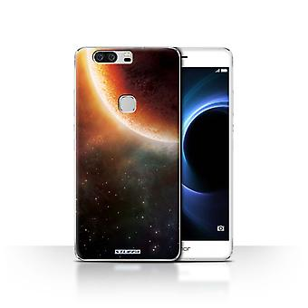 STUFF4 Case/Cover for Huawei Honor V8/Orange Eclipse/Space/Cosmos