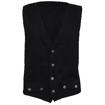 Spiral Direct Gothic GOTHIC ROCK - Gothic Waistcoat Four Button with Lining|Gothic|Metal