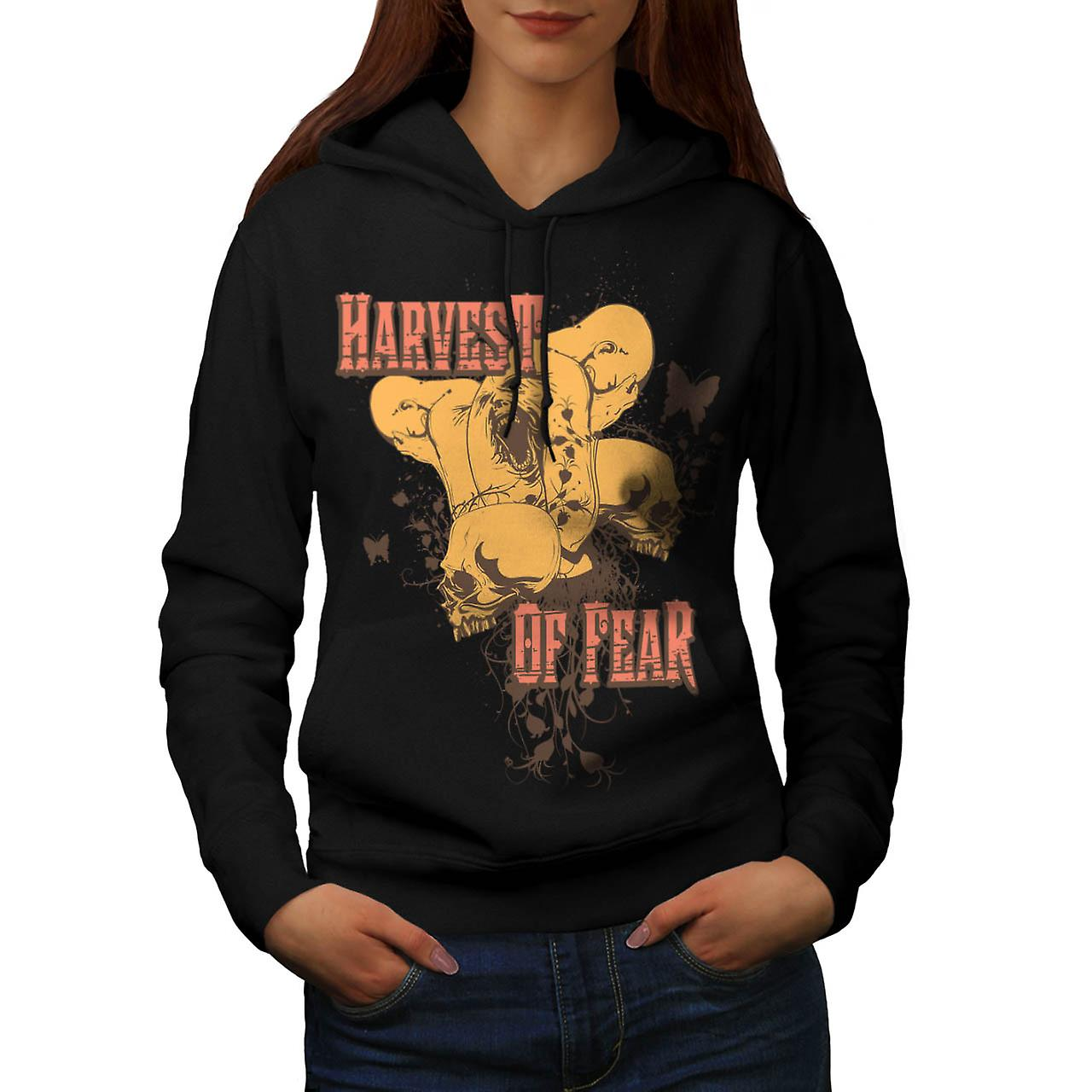 Harvest Of Fear Face Horror Fly Women Black Hoodie | Wellcoda