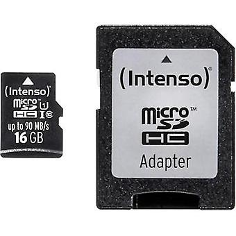 microSDHC card 16 GB Intenso Professional Class 10, UHS-I incl. SD adapter