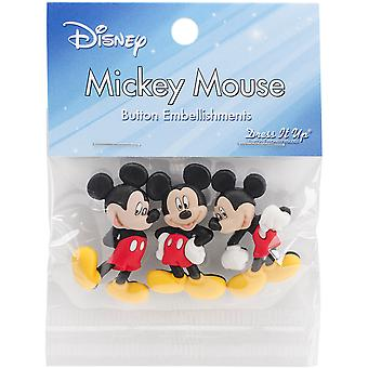 Il habille sous licence embellissements-Disney Mickey Mouse DIULBTN-7716