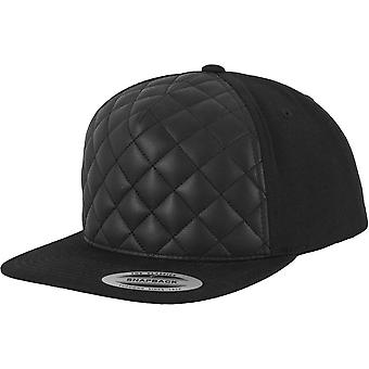 FLEXFIT diamond quilted Snapback Cap - svart