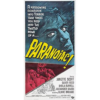 Paranoiac Top Oliver Reed On Poster Art 1963 Movie Poster Masterprint
