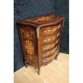 Chest of drawers baroque cabinet Louis xv antique style MkKm0042C