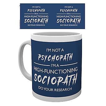 Nie jestem psychopatą kubek Sherlock