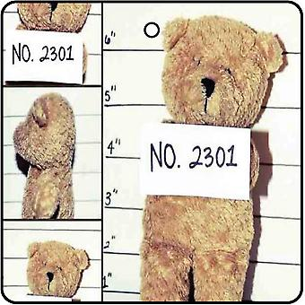 Teddy Bear Mugshot Car Air Freshener