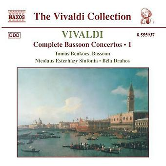 A. Vivaldi - Vivaldi: Complete Bassoon Concertos, Vol. 1 [CD] USA import