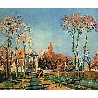Camille Pissarro - straat Poster Print Giclee