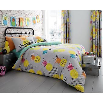 Ananas blommig moderna påslakan sängkläder Quilt ställa alla storlekar