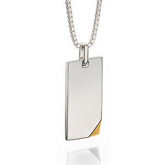 Identità placcato oro argento 925 targhetta collana