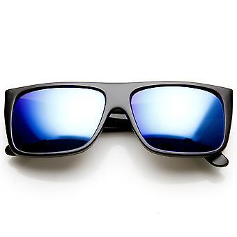 Moderne Action Sport Flat Top Flash-Farbe Spiegel Objektiv Sonnenbrillen