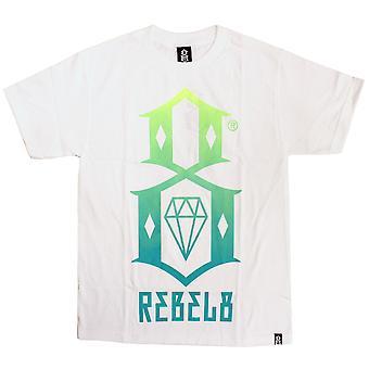 Rebel8 Gradient Logo T-shirt White Green