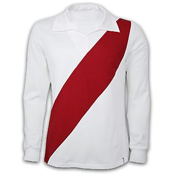 River Plate 1960\'s Long Sleeve Retro Shirt 100% cotton