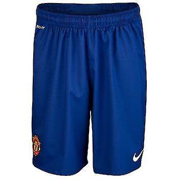 2012-13 Man Utd Away Goalkeeper Shorts (Blue) - Kids