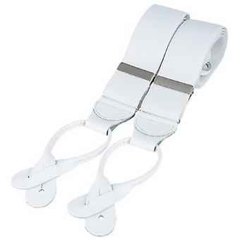 David Van Hagen Classic Rolled Leather End Brace - White