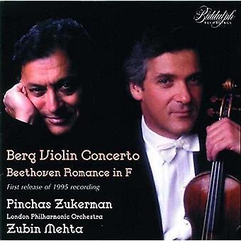 Berg / Zukerman / London Philharmonic Orch / Mehta - Violinkoncert / Violin værker [CD] USA import