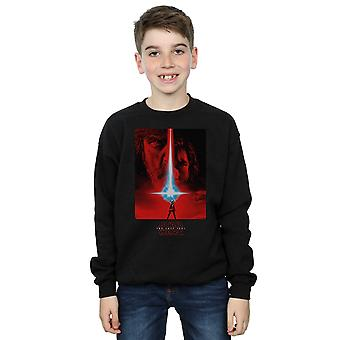 Star Wars Boys The Last Jedi Red Poster Sweatshirt