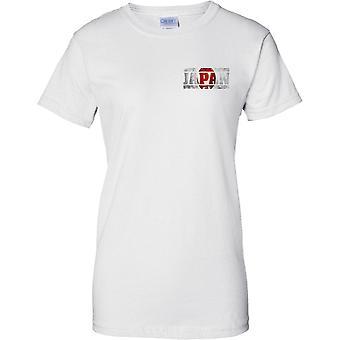 Japan-Grunge Land Name Flag Effect - Damen Brust Design T-Shirt