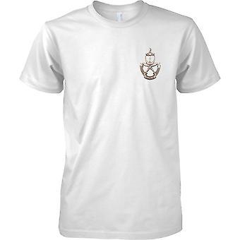 Lizenzierte MOD - britische Armee Gurkha-Metall-Effekt-Insignia - Mens Brust Design T-Shirt