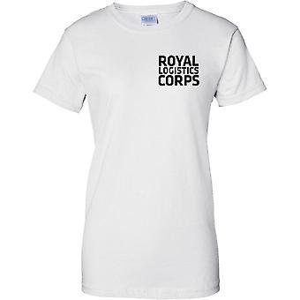 Licensed MOD -  British Army Royal Logistics Corps - Text - Ladies Chest Design T-Shirt