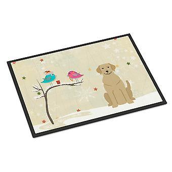 Christmas Presents between Friends Yellow Labrador Indoor or Outdoor Mat 24x36