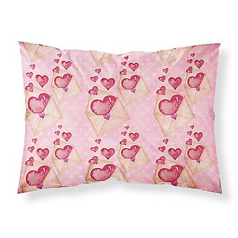 Watercolor Pink Love Letter Fabric Standard Pillowcase