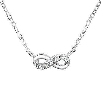 Infinity Inline - 925 Sterling Silver Jewelled Necklaces - W19389x