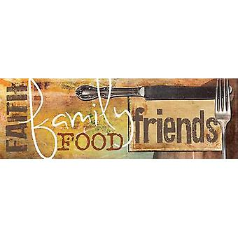 Food and More Poster Print by Marla Rae (18 x 6)