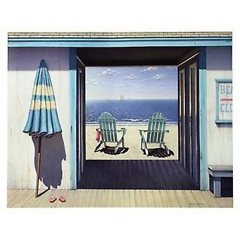 Пляжный клуб плакат печати Даниэль Pollera (30 x 24)
