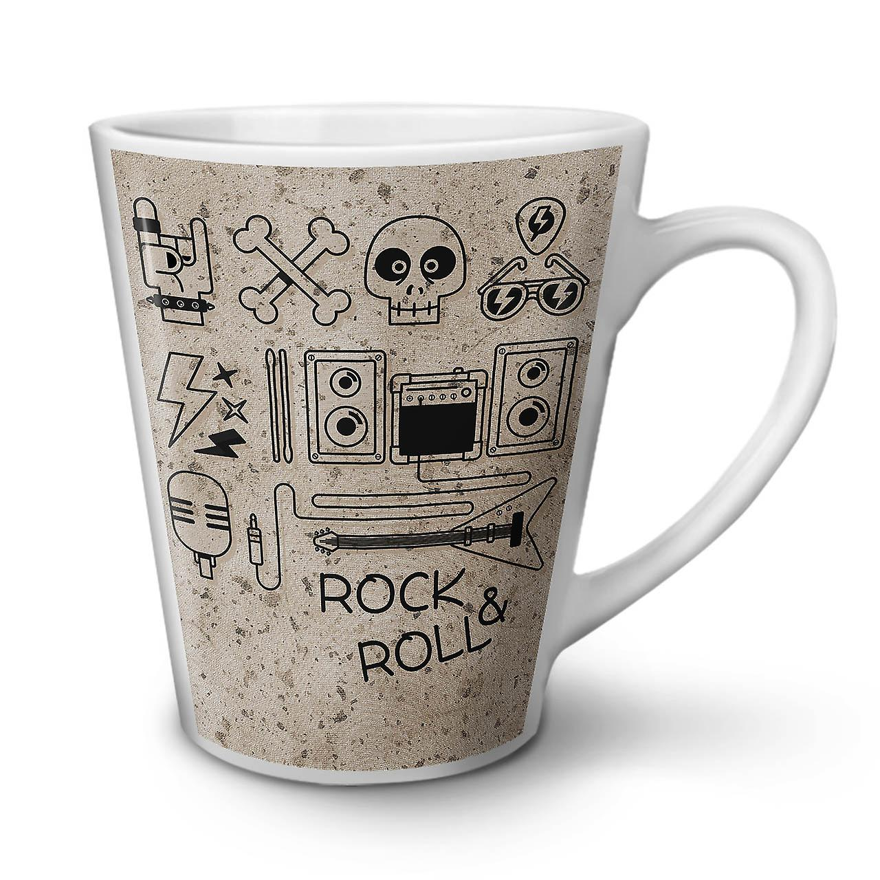 Nouvelle Roll 12 Latte Rockamp; Musique Skull En Café Céramique Tasse Blanche OzWellcoda n0vN8ywmO