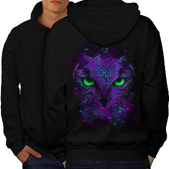 Amazing Owl sauvage hommes amusants BlackHoodie dos | Wellcoda