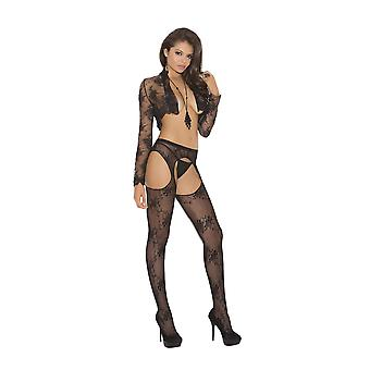 Elegant Moments EM-1895 Lace suspender Pantyhose Also in plus size