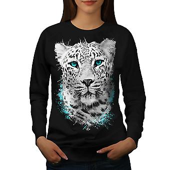Tiger animalske vildkat kvinder BlackSweatshirt | Wellcoda