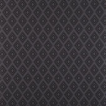 Fresco Charcoal & Grey Wallpaper Roll - Flat Patterned Diamonds Design - 50-674
