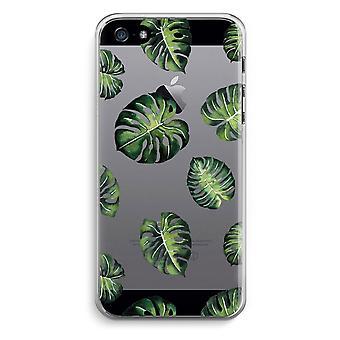 iPhone 5/5 s/SE 透明ケース (ソフト) - 熱帯の葉