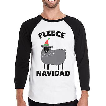 Fleece Navidad Mens Raglan Shirt Raglan Christmas Gift For Him