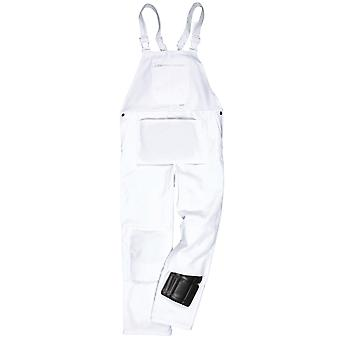 Portwest Mens Workwear Painters Decorators Protect Bib & Brace Dungarees White