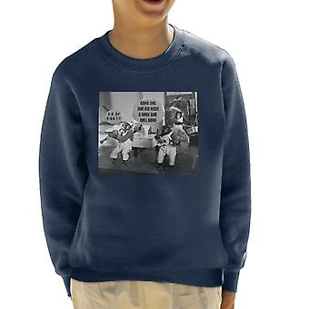 Bertrand Mills Chimpanzee Orchestra Band 1951 Kid's Sweatshirt