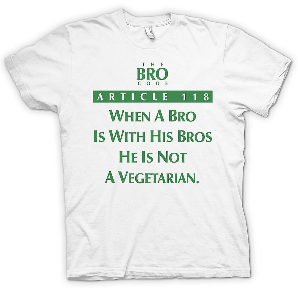 Mens T-shirt - Bro Code Article 118 Not Vegetarian